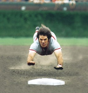 Pete Rose Diving Head First 2