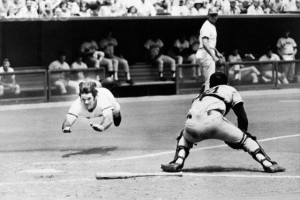 Pete Rose Levitates Diving For Homeplate